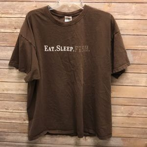 Eat sleep fish tee